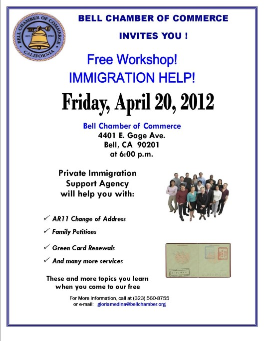 Free Immigration Workshop April 20, 2012